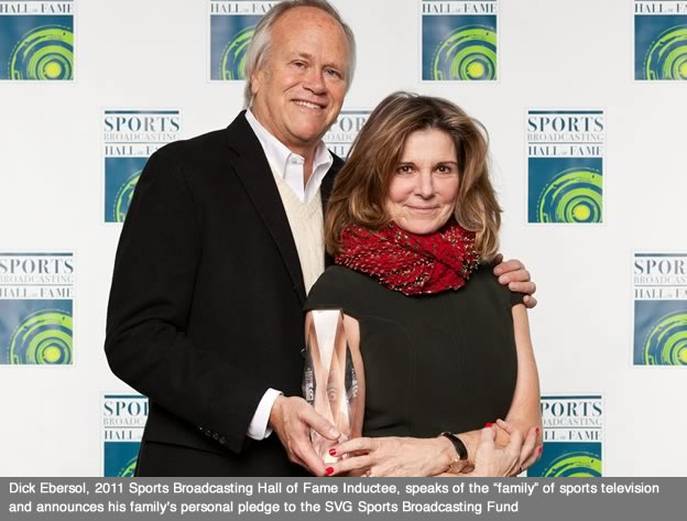 Former NBC Executive Dick Ebersol and Wife Susan Saint James  Pledge $100,000 to SVG Sports Broadcasting Fund